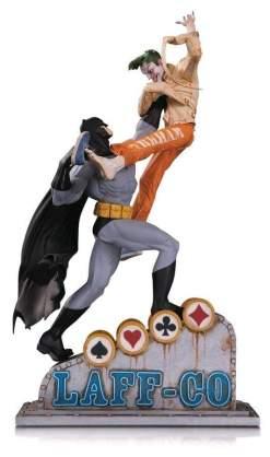 Image Batman - Batman vs Joker Laff Co Statue