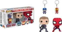 Image Captain America 3 - Pop! & Keychain 4Pk