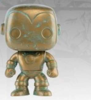 Image Iron Man - Marvel 80th Anniversary Patina US Exclusive Pop! Vinyl [RS]