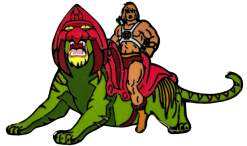 Image Masters of the Universe - He-man on Battle Cat Enamel Pin