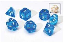 Image Sirius Dice - Polyhedral Dice Set- Translucent Blue