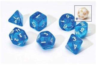 Image Sirius Dice - Polyhedral Dice Set- Translucent Blue