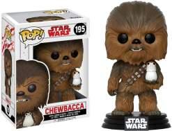 Image Star Wars - Chewbacca with Porg Episode VIII US Exclusive Pop! Vinyl