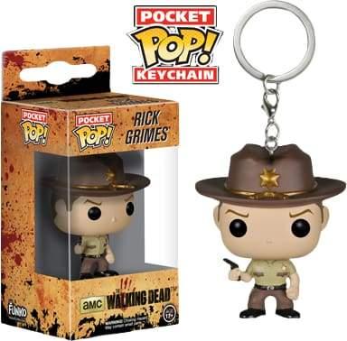 Image Walking Dead - Rick Grimes Pop! Keychain