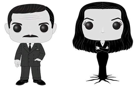 Image Addams Family - Morticia and Gomez Black & White US Exclusive Pop! Vinyl 2-pack [RS]