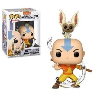 Image Avatar The Last Airbender - Aang with Momo Pop! Vinyl