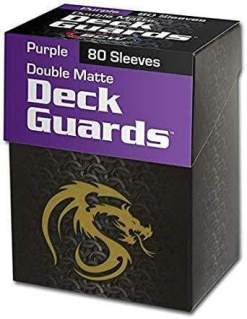 Image BCW Deck Guard Boxed Sleeves (80) Purple