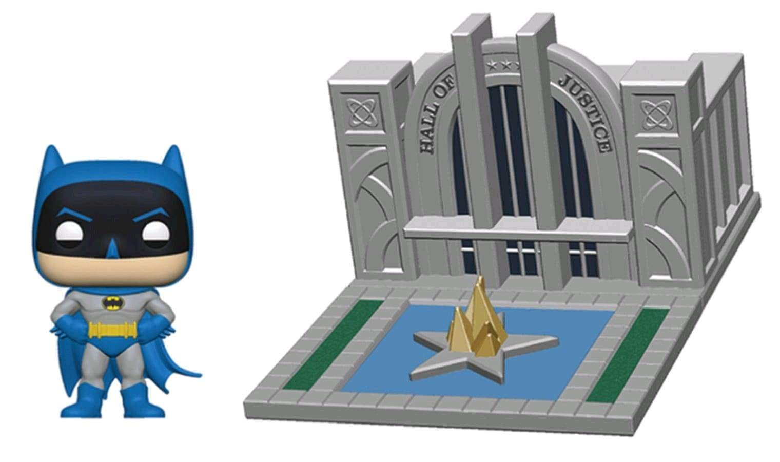 Image Batman - Batman with Hall of Justice 80th Anniversary Pop! Town