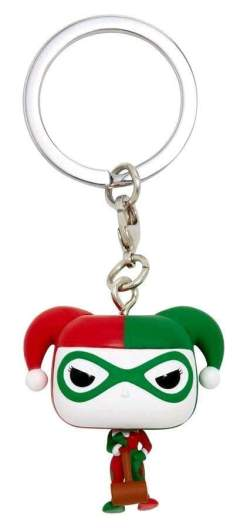 Image Batman - Harley Quinn (Holiday) US Exclusive Pocket Pop! Keychain [RS]