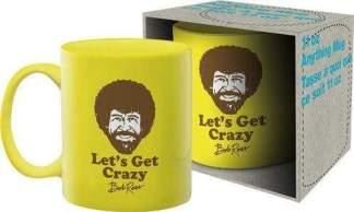 Image Bob Ross Lets Get Crazy Coffee Mug