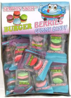Image Burger Berries Gummy Candy