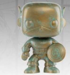 Captain America – Marvel 80th Anniversary Patina US Exclusive Pop! Vinyl [RS]