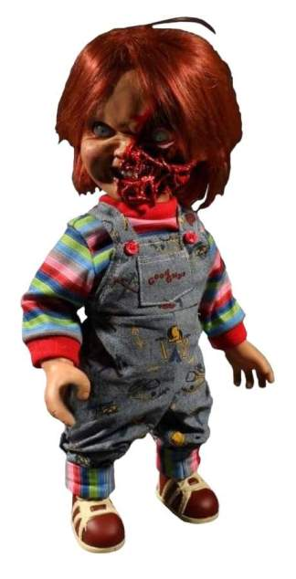 "Image Child's Play 3 - Chucky Pizza Face 15"" Talking Figure"