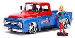 DC Bombshells – Supergirl 1956 Ford F100 1:24 Scale Hollywood Rides Diecast Vehicle