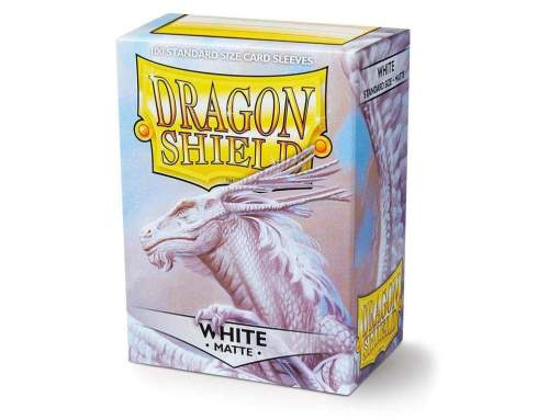 Image Dragon Shield White Matte Sleeves (100)