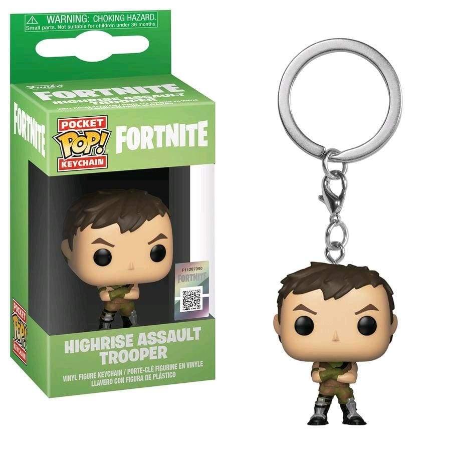 Image Fortnite - Highrise Assault Trooper Pocket Pop! Keychain