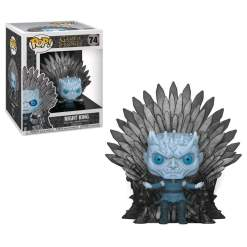 Image Game of Thrones - Night King Iron Throne Pop! Deluxe