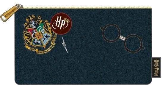 Harry Potter – Hogwarts Logo Blue Pencil Case