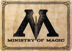 Image Harry Potter - Ministry of Magic A3 Tin Sign