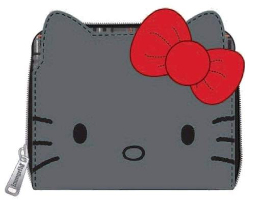 Image Hello Kitty - Grey Bifold Purse with Bow