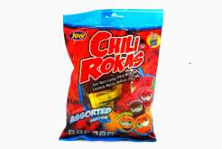 Image Jovy Chili Rokas - Sour Hard Candy Filled with Chilli Peg Bag
