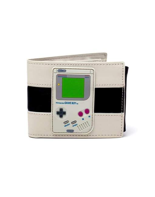 Image Nintendo - Printed Logo With Rubber Gameboy Patch Bifold Wallet