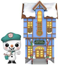 Image Peppermint Lane - Frosty with Light Up Post Office US Exclusive Pop! Town [RS]