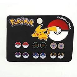 Image Pokemon - Pokeballs 6 Pack Earrings