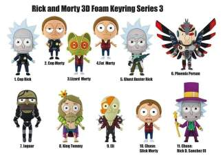 Image Rick and Morty - 3D Figural Keychain series 03 Blind Bag