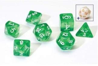 Image Sirius Dice - Polyhedral Dice Set- Translucent Green