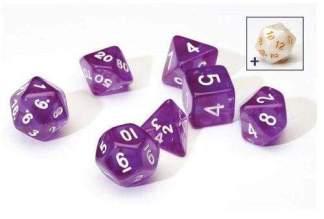 Image Sirius Dice - Polyhedral Dice Set- Translucent Purple