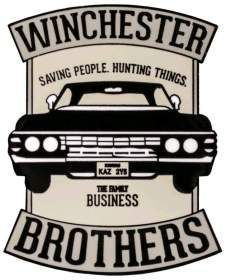 Image Supernatural - Winchester Brothers Enamel Pin