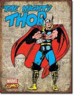 Image The Mighty Thor - Retro Tin Sign