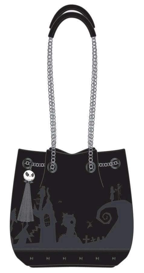Image The Nightmare Before Christmas - Black Bucket Bag with Tassel