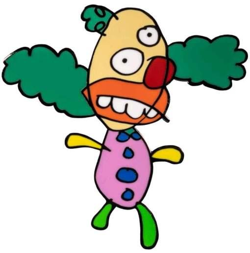 Image The Simpsons - Krusty the Clown Sketch Enamel Pin