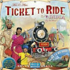 Image Ticket to Ride: India and Switzerland Expansion