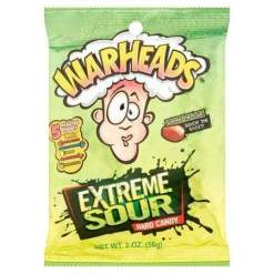 Image Warheads Extreme Sour Hard Candy Peg Bag