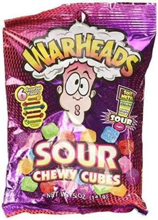 Image Warheads: Sour Chewy Cubes Peg Bag