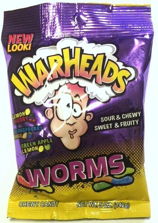 Image Warheads: Sour Chewy Worms Peg Bag