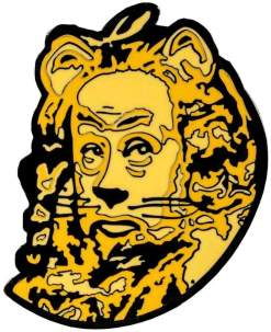 Image Wizard of Oz - Cowardly Lion Enamel Pin