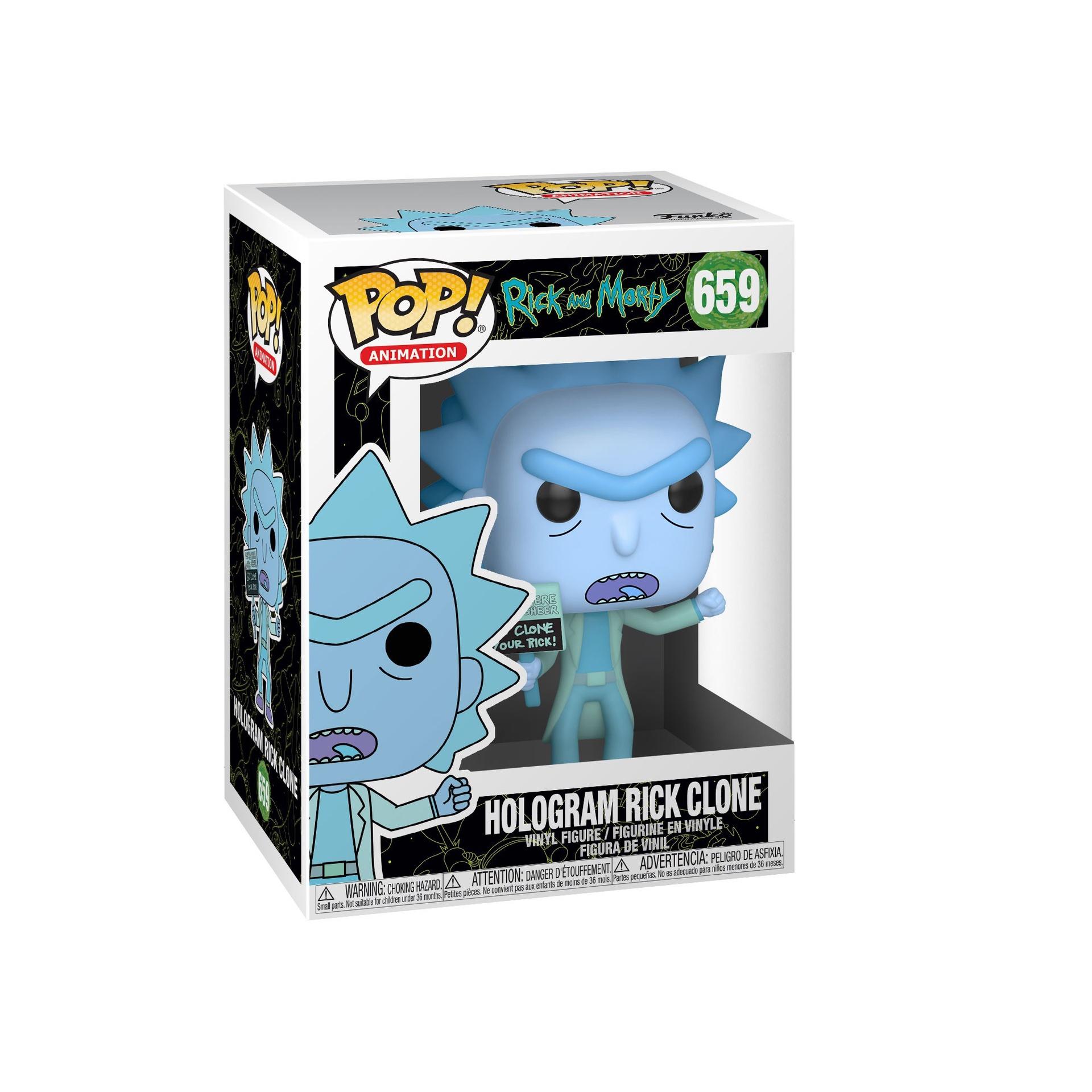 Rick and Morty – Hologram Rick Clone Pop! Vinyl Figure